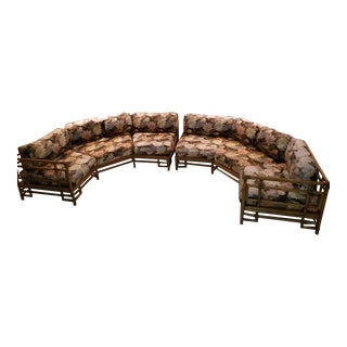Ficks Reed Rattan Sectional For Sale