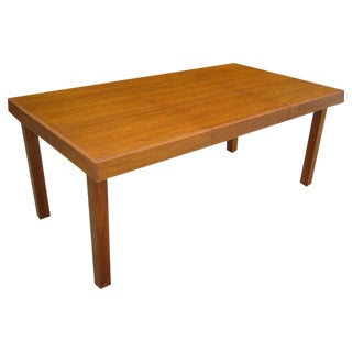 Classic Early George Nelson Walnut Dining Table For Sale