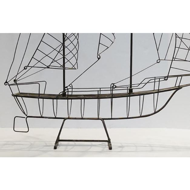 1960s Vintage Wire Ship For Sale - Image 5 of 6