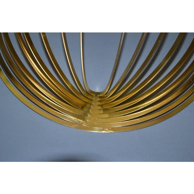 Gold Modern Sculptural Golden Brass Rocking Bowl, Eight Mood, Sweden For Sale - Image 8 of 11
