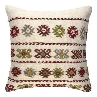 "Reclaimed Retro Kilim Pillow | 16"" For Sale"