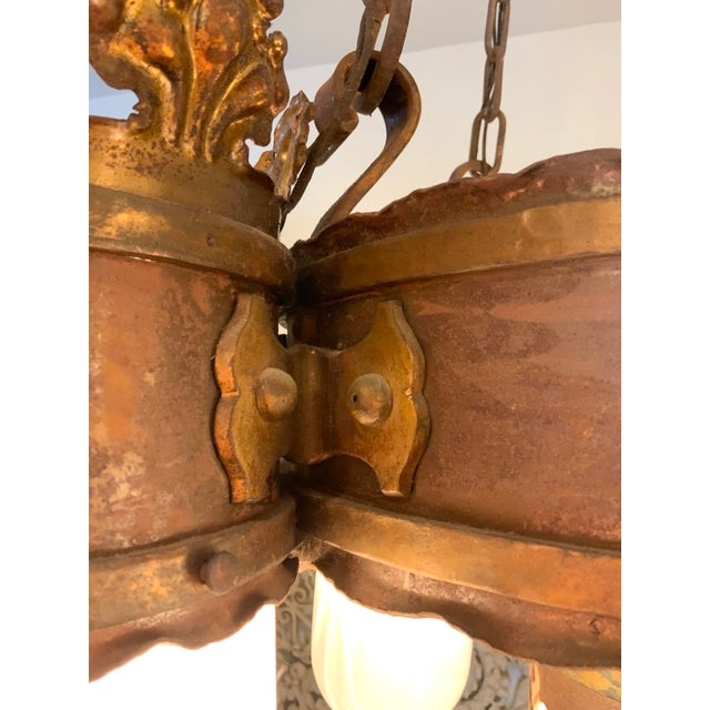 19th Century Gothic 5 Light Pendant Chandelier For Sale - Image 12 of 13