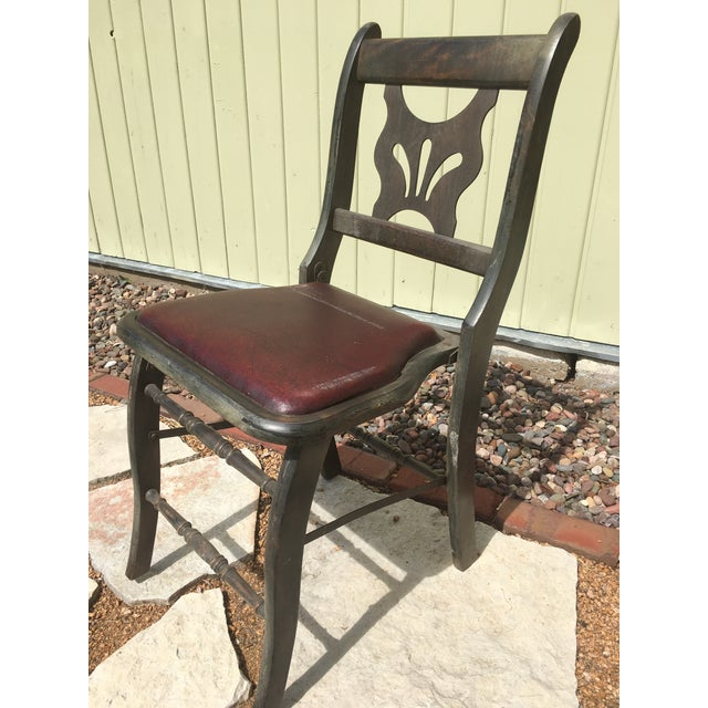 Antique Vintage Folding Theater Chair - Image 3 of 7