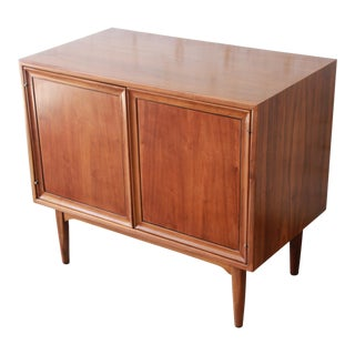 Kipp Stewart for Drexel Declaration Mid-Century Walnut Record Cabinet For Sale