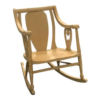 Vintage Rocker Shabby Chic Rocking Chair For Sale
