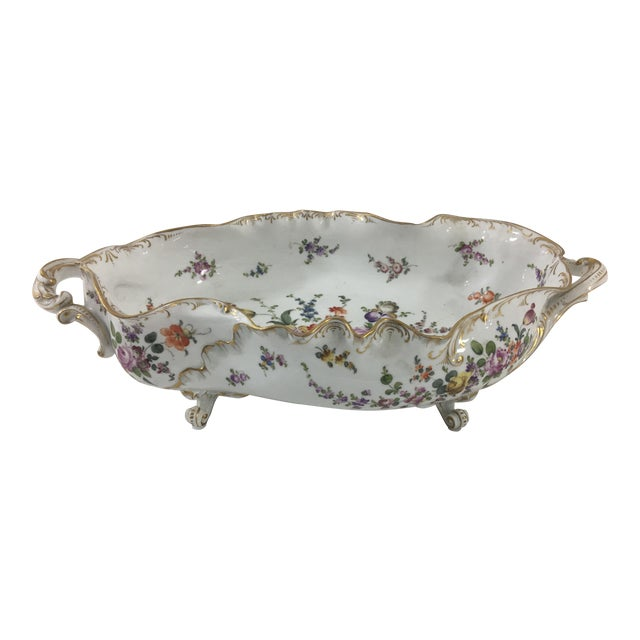19th Century Limoge Hand-Painted Centerpiece For Sale