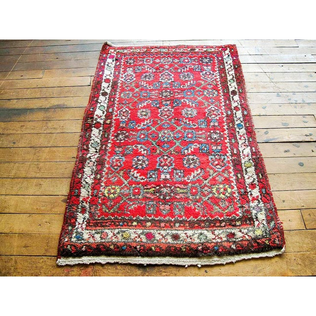 """Red Boho Chic Persian Rug - 1'11"""" X 3' - Image 2 of 7"""