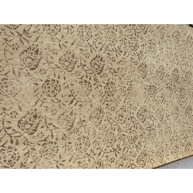 """Taupe Rose Tarlow for Melrose House """"Calais"""" Fabric in Taupe/Natural 100% Hemp Lined For Sale - Image 8 of 9"""