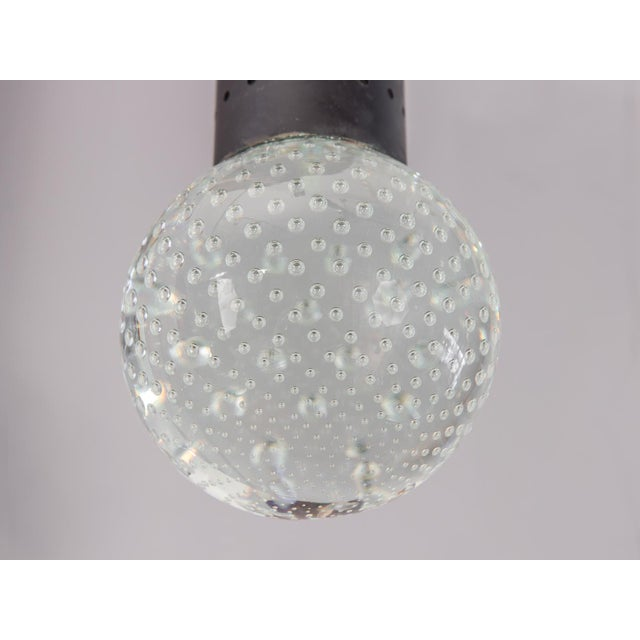 Metal Murano Glass Bubble Pendant by Gino Sarfatti and Archimede Seguso for Lightolier For Sale - Image 7 of 12