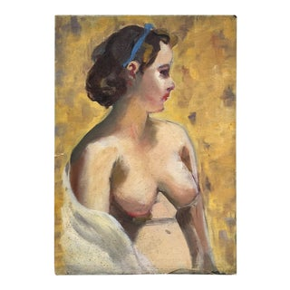 Mid-Century Modern Figurative Painting For Sale