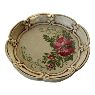 Wooden Serving Tray in Florentine Style Handpainted From the 1950s For Sale