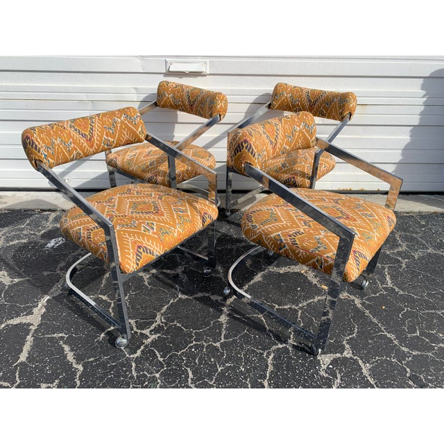 Orange 1980s Vintage Design Institute of America Chairs - Set of 4 For Sale - Image 8 of 8