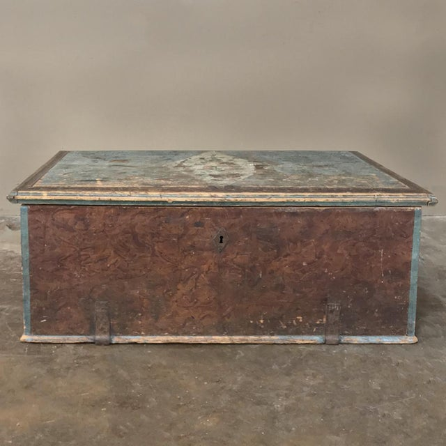 19th Century Rustic Swedish Painted Trunk For Sale - Image 13 of 13