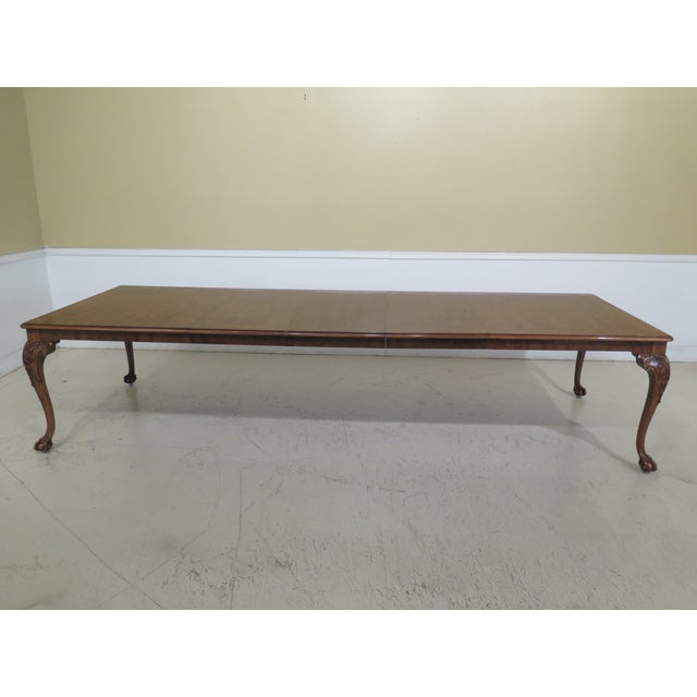 1980s Traditional Karges Ball & Claw Walnut Dining Room Table For Sale - Image 9 of 13