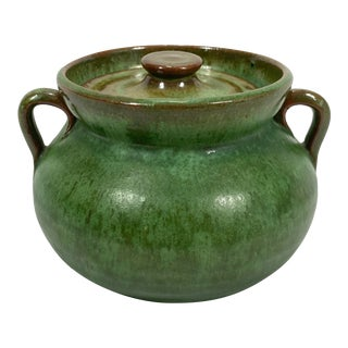 Green Pottery Sugar Bowl For Sale