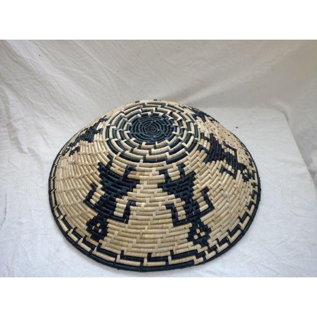 Vintage Figurative Woven Sri Lankan Festival Grain Basket For Sale In Sacramento - Image 6 of 7