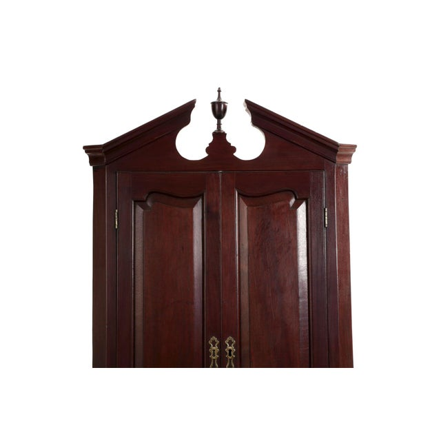 Chippendale 19th Century English Georgian Mahogany Hanging Corner Cabinet Cupboard For Sale - Image 3 of 11