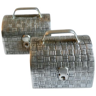 Pair of Sterling Silver Snuff Pill Boxes For Sale