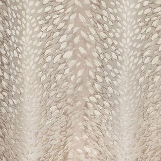 Scalamandre Cheetah Stripe Fabric in Ivory For Sale