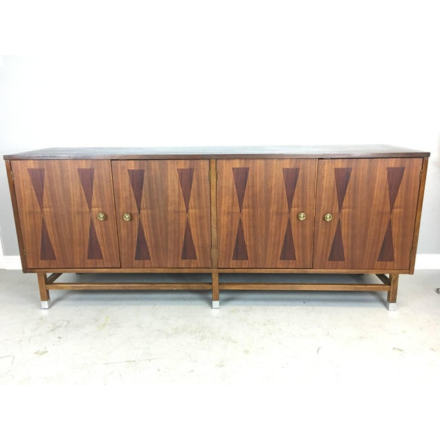 Mid-Century Walnut With Rosewood Inlay Credenza - Image 2 of 8