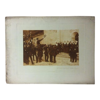 """Antique Photogravure on Paper, """"The Cadets Visit to the Mother Superior"""" from D. Appleton & Co - Circa 1860 For Sale"""