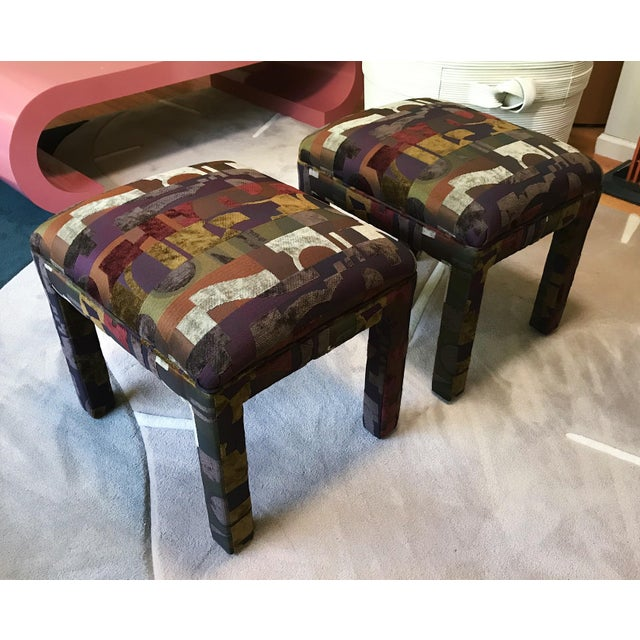 Tremendous Upholstered 1990S Parsons Ottoman Foot Stools A Pair Unemploymentrelief Wooden Chair Designs For Living Room Unemploymentrelieforg