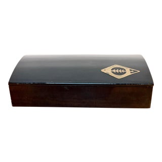 Dolbi Cashier Black Lacquered Box For Sale