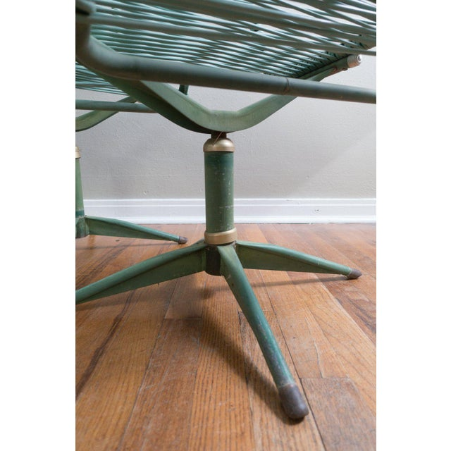 Green 1950s Vintage Ames Aire Cabana Star Line Green Patio Chairs- Set of 4 For Sale - Image 8 of 11