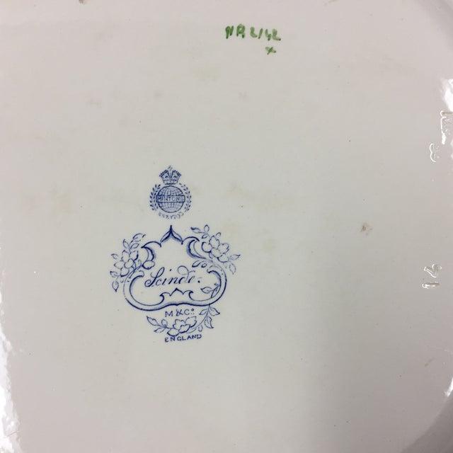 Art Nouveau Antique 1860s Minton & Co. Transfer Ware Plate For Sale - Image 3 of 7