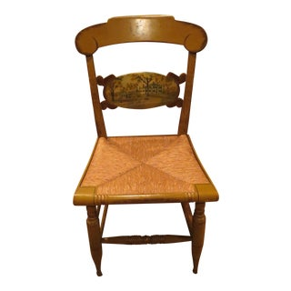 Limited Edition Turtle Back Hitchcock Chair with Natural Rush Seat