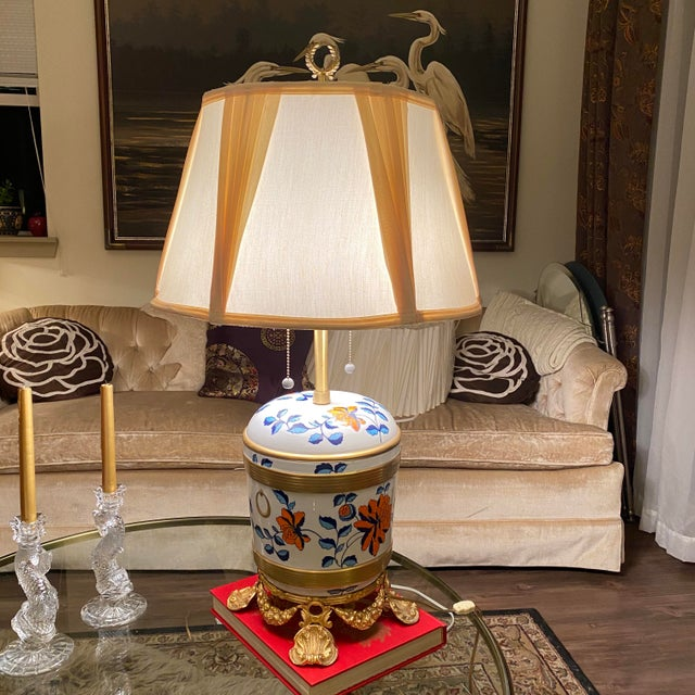 Antique Sevres Porcelain & Ormolu Marbro Lamps -a Pair For Sale - Image 9 of 13