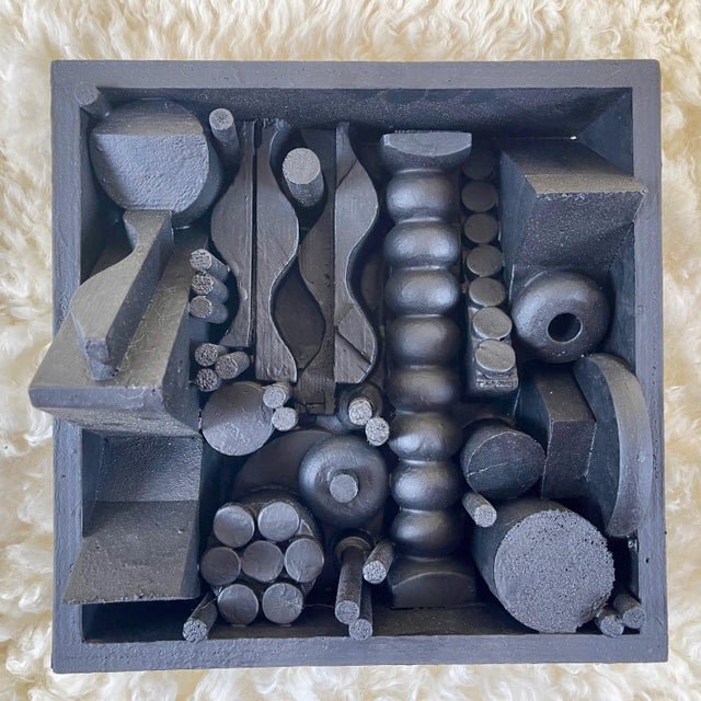 Contemporary Assemblage Sculpture After Louise Nevelson For Sale - Image 9 of 9