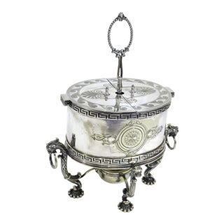 Antique Sheffield Silver-Plate Egg Warmer