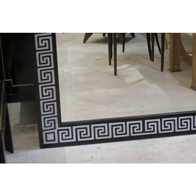 Bespoke Hand-Decorated Greek Key Pattern Mirrors - a Pair For Sale In New York - Image 6 of 7