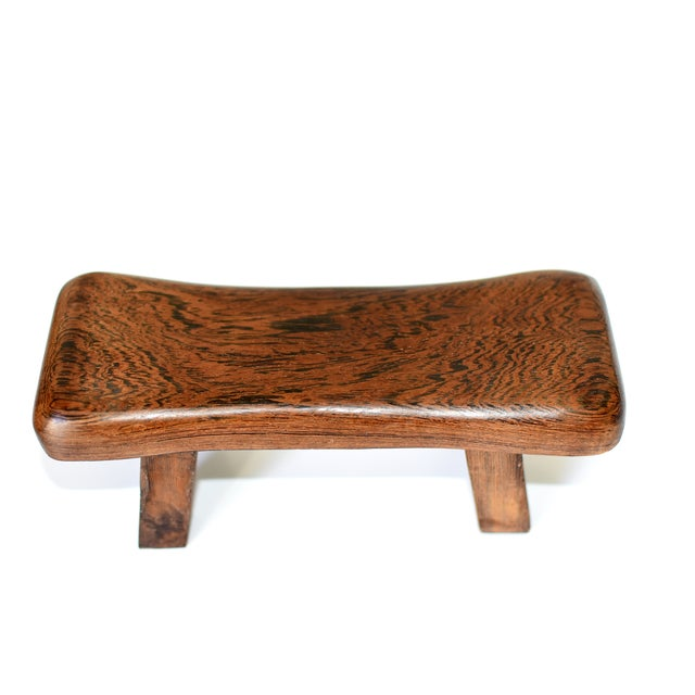 Chinese Rosewood Mini Stools, Hand Rests - a Pair For Sale - Image 9 of 13