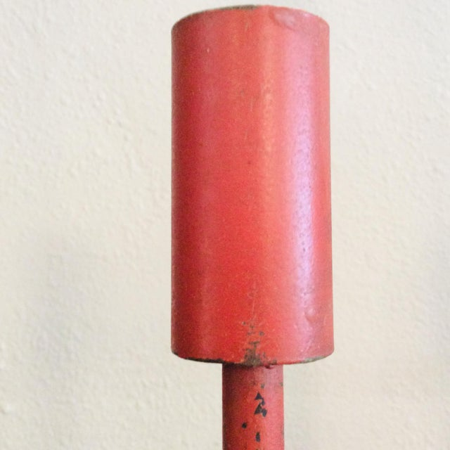 Donald Drumm Mid-Century Modern Don Drumm Red Wall Sconce Candelabra For Sale - Image 4 of 9
