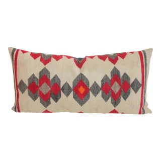 Muted Navajo Weaving Bolster Pillow For Sale