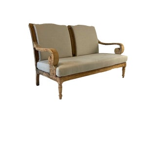 Late 19th Century Traditional Style Settee For Sale