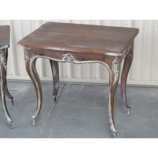 Louis XV Early 20th Century Louis XV Style End Tables - a Pair For Sale - Image 3 of 9