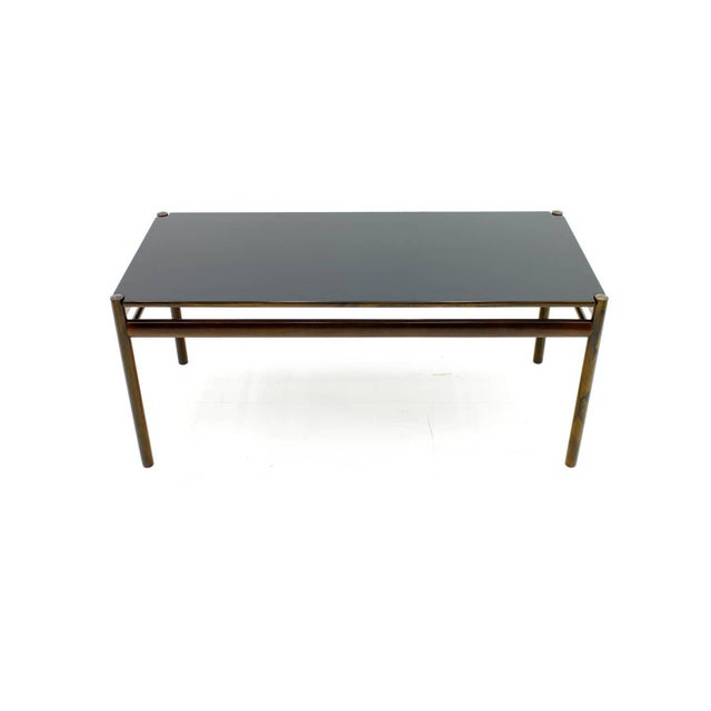 Black Flip-Top Coffee Table by Ole Wanscher for Jeppesen, Denmark, 1960 For Sale - Image 8 of 8