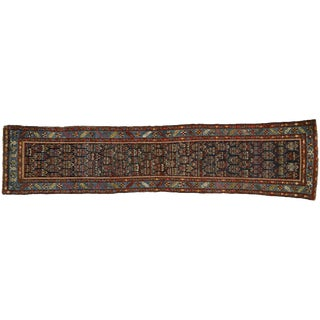 Antique Persian Malayer Hallway Rug Runner - 2'10 X 12'6 For Sale