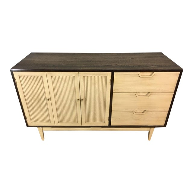 Two-Toned Mid Century Modern Credenza For Sale