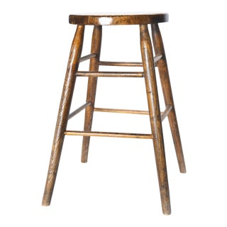 Mid Century Rustic Counter Stool For Sale