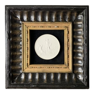 1829 Rusian Imperial Grand Tour Plaster Cameo in Terracotta Frame For Sale