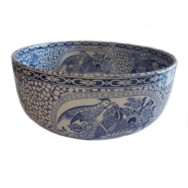 1930s 1930's Vintage William Adams Chinese Bird Pattern Bowl & Jug For Sale - Image 5 of 13