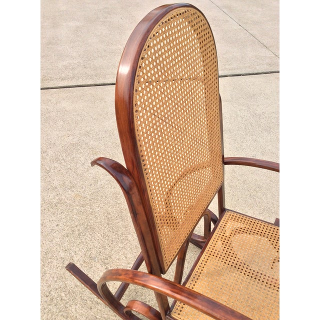 1960s Mid Century Luigi Crassevig Thonet Style Bentwood Rocker For Sale - Image 5 of 12