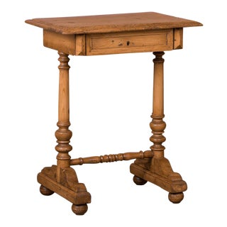 19th Century Country Pine Side Table or Nightstand For Sale