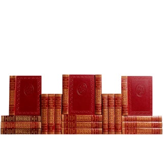 Red Midcentury Reference Books - Set of 19