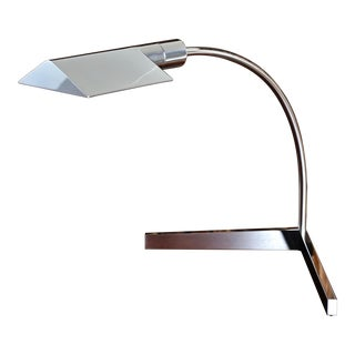 Cedric Hartman Chrome Table Lamp, Circa 1975 For Sale