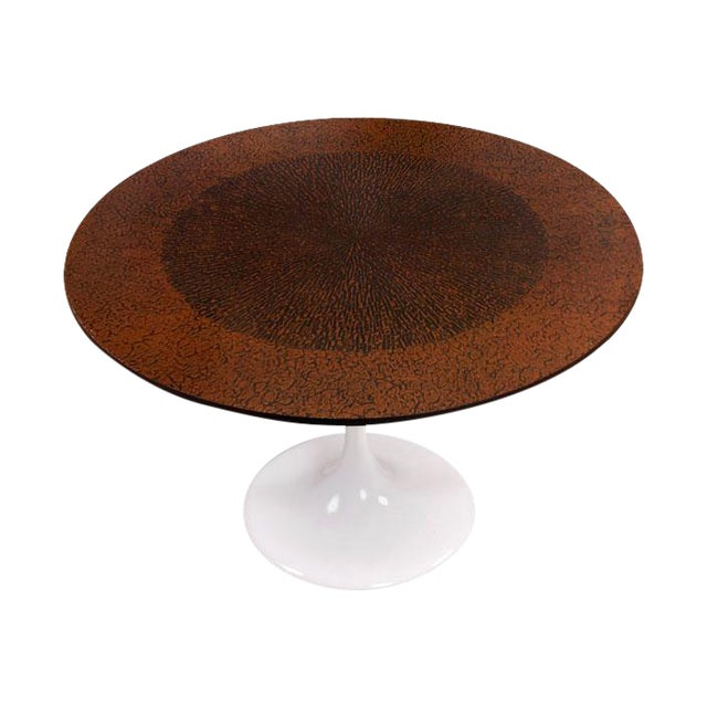 Restored Tulip Table With Copper and Black Mosaic - Image 1 of 7